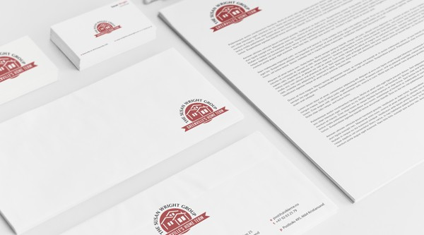 Logo and stationery design for The Susan Wright Group - Residential Apartments